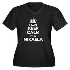 Unique Mikaela Women's Plus Size V-Neck Dark T-Shirt