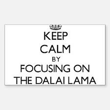 Keep Calm by focusing on The Dalai Lama Decal