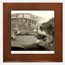 Bulldog vs Bulldog Framed Tile