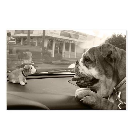 Bulldog vs Bulldog Postcards (Package of 8)