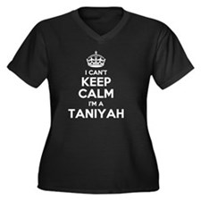 Unique Taniyah Women's Plus Size V-Neck Dark T-Shirt