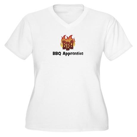 BBQ Fire: BBQ Apprentice Women's Plus Size V-Neck