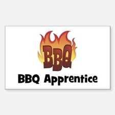 BBQ Fire: BBQ Apprentice Rectangle Decal