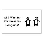 Christmas Penguins Sticker (Rectangle 50 pk)