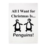 Christmas Penguins 5'x7'Area Rug