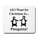 Christmas Penguins Mousepad