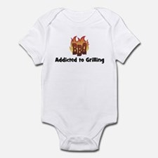 BBQ Fire: Addicted to Grillin Infant Bodysuit