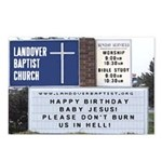 Church Sign Christmas Postcards (Package of 8)