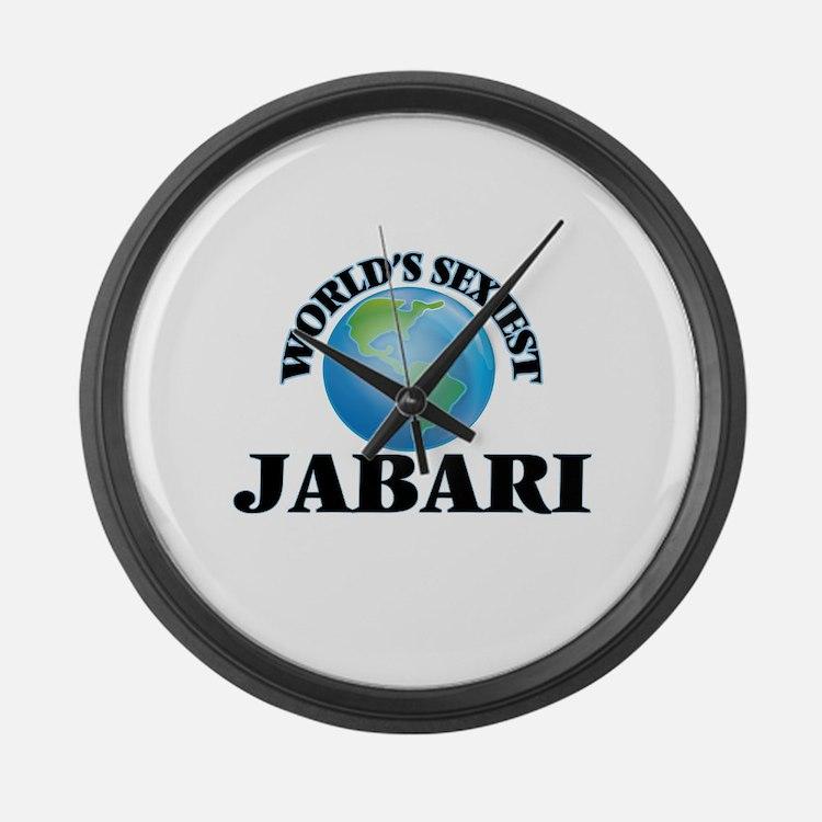 World's Sexiest Jabari Large Wall Clock