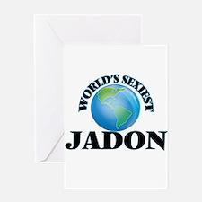 World's Sexiest Jadon Greeting Cards