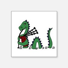 Loch Ness Monster Bagpipes Sticker