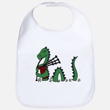 Loch Ness Monster Bagpipes Bib
