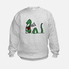 Loch Ness Monster Bagpipes Sweatshirt
