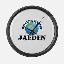 World's Sexiest Jaeden Large Wall Clock