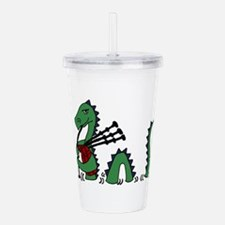 Loch Ness Monster Bagp Acrylic Double-wall Tumbler