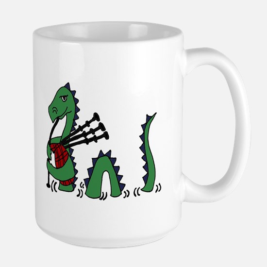 Loch Ness Monster Bagpipes Mugs