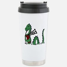 Loch Ness Monster Bagpi Stainless Steel Travel Mug