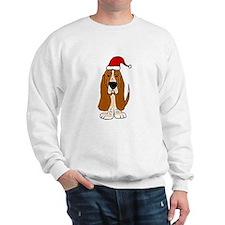 Funy Basset Hound Christmas Art Sweatshirt