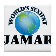 World's Sexiest Jamar Tile Coaster