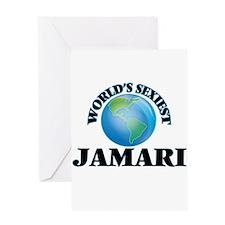 World's Sexiest Jamari Greeting Cards