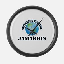 World's Sexiest Jamarion Large Wall Clock