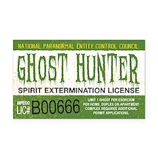 Ghost Hunter License Rectangle Car Magnet