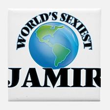 World's Sexiest Jamir Tile Coaster