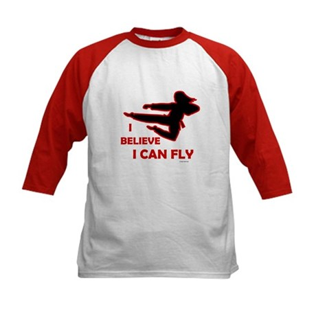 I Believe I Can Fly (Female) Kids Baseball Jersey