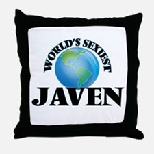 World's Sexiest Javen Throw Pillow