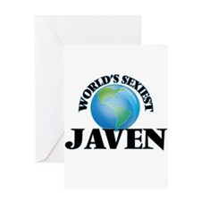 World's Sexiest Javen Greeting Cards