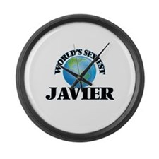 World's Sexiest Javier Large Wall Clock