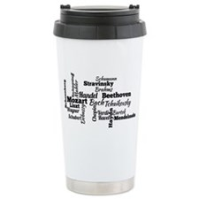 Classical Composers Word Cloud Travel Mug