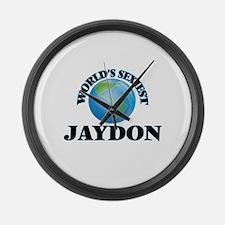 World's Sexiest Jaydon Large Wall Clock