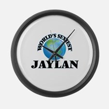 World's Sexiest Jaylan Large Wall Clock