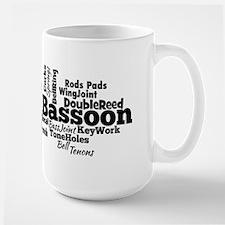 Bassoon Word Cloud Mugs