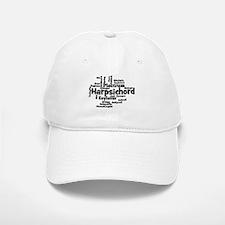 Harpsichord Word Cloud Baseball Baseball Baseball Cap