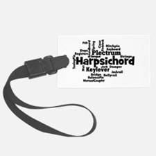 Harpsichord Word Cloud Luggage Tag