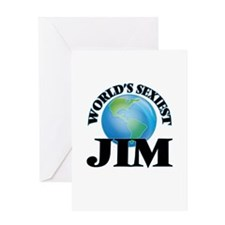 World's Sexiest Jim Greeting Cards