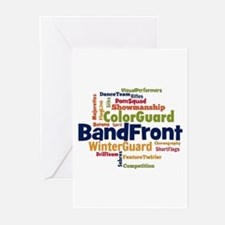 Bandfront Word Cloud Greeting Cards