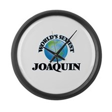 World's Sexiest Joaquin Large Wall Clock