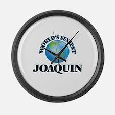 World's Sexiest Joaquin Large Wall Clock