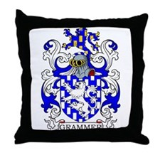 Grammer Coat of Arms Throw Pillow