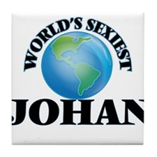 World's Sexiest Johan Tile Coaster