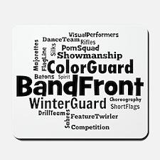 Bandfront Word Cloud Mousepad