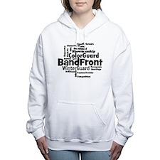 Bandfront Word Cloud Women's Hooded Sweatshirt
