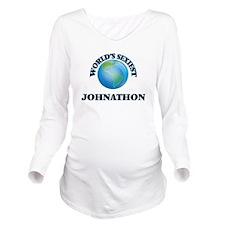 World's Sexiest John Long Sleeve Maternity T-Shirt