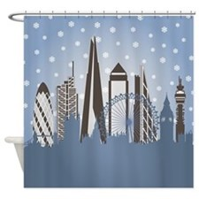 London Snowflakes Shower Curtain