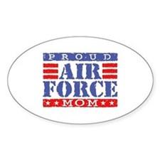 Proud Air Force Mom Oval Decal