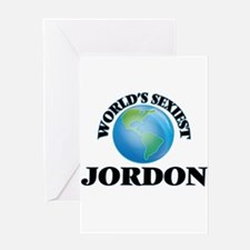 World's Sexiest Jordon Greeting Cards