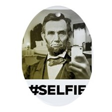LINCOLN SELFIE Oval Ornament